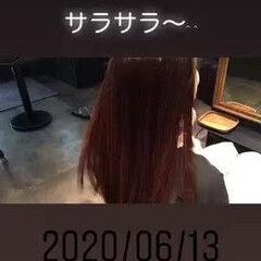 ナチュラル ロング 縮毛矯正 縮毛矯正ストカール ヘアスタイルや髪型の写真・画像