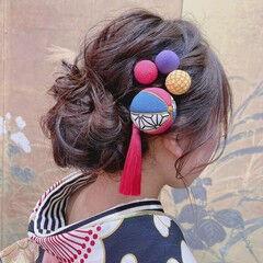 ヘアアレンジ ヘアセット ナチュラル 成人式 ヘアスタイルや髪型の写真・画像