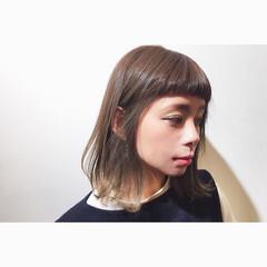モード ショートバング 前髪あり  ヘアスタイルや髪型の写真・画像