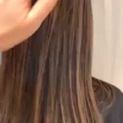 ワンレングス 外国人風カラー ロング 極細ハイライト ヘアスタイルや髪型の写真・画像