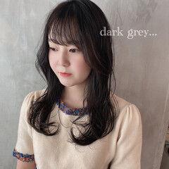 ナチュラル ミディアム 韓国風ヘアー ゆるウェーブ ヘアスタイルや髪型の写真・画像