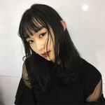 セミロング ロングヘア ナチュラル 透明感カラー