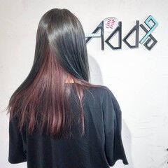 ブリーチ ブリーチオンカラー インナーラベンダー エレガント ヘアスタイルや髪型の写真・画像