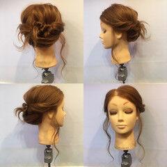 フェミニン 後れ毛 ヘアアレンジ 結婚式 ヘアスタイルや髪型の写真・画像