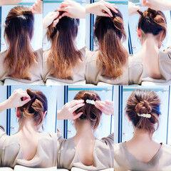 ヘアアレンジ ロング 簡単ヘアアレンジ 上品 ヘアスタイルや髪型の写真・画像