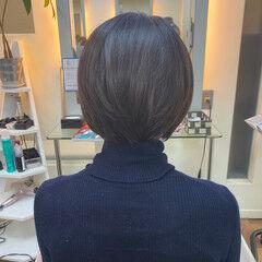 ショート ショートボブ 春スタイル ナチュラル ヘアスタイルや髪型の写真・画像
