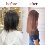 横顔美人 エレガント うる艶カラー 髪質改善トリートメント