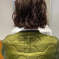 ナチュラル パーマ ミニボブ ボブ ヘアスタイルや髪型の写真・画像