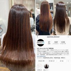 髪質改善カラー ロングヘアスタイル クールロング ロング ヘアスタイルや髪型の写真・画像