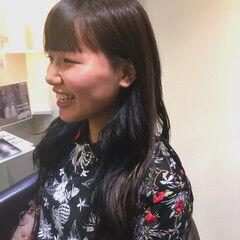 ストリート ロング 大学生 ネイビーブルー ヘアスタイルや髪型の写真・画像