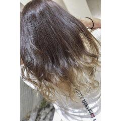 モード グラデーションカラー ホワイトブリーチ グラデーション ヘアスタイルや髪型の写真・画像