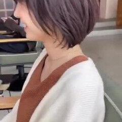 モテボブ 似合わせカット セミロング ボブヘアー ヘアスタイルや髪型の写真・画像