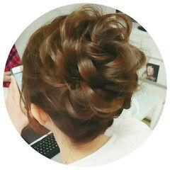 ツイスト 花 ヘアアレンジ アップスタイル ヘアスタイルや髪型の写真・画像
