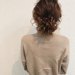 ヘアセット フェミニン ヘアアレンジ アップ ヘアスタイルや髪型の写真・画像