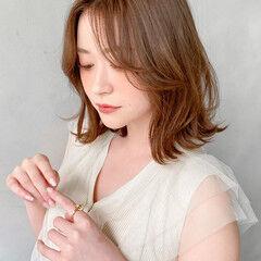 ベージュ ミニボブ 暖色 ナチュラル ヘアスタイルや髪型の写真・画像