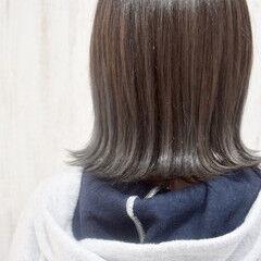 オリーブアッシュ ボブ ブルージュ エレガント ヘアスタイルや髪型の写真・画像
