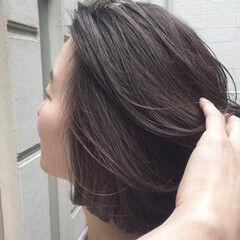 パープルカラー モード ブリーチオンカラー パープル ヘアスタイルや髪型の写真・画像