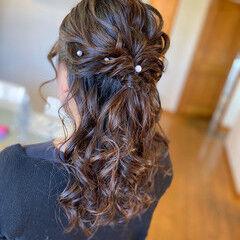 大人女子 ヘアアレンジ ロング お呼ばれヘア ヘアスタイルや髪型の写真・画像