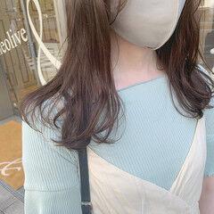 グレーベージュ 透明感カラー ベージュ ナチュラル ヘアスタイルや髪型の写真・画像