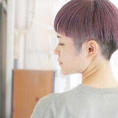 ラベンダー ストリート ラベンダーグレージュ ショート ヘアスタイルや髪型の写真・画像