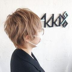 ツーブロック ウルフ女子 ストリート ウルフカット ヘアスタイルや髪型の写真・画像