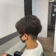 ナチュラル メンズヘア ショート パーマ ヘアスタイルや髪型の写真・画像