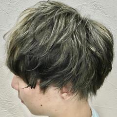 メンズ メンズカラー ブリーチ ショート ヘアスタイルや髪型の写真・画像