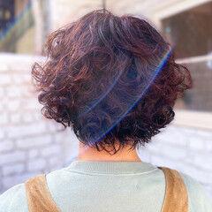 ナチュラル ボブ ピンクベージュ ヘアスタイルや髪型の写真・画像