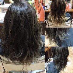 Wカラー ロング 髪質改善トリートメント 髪質改善 ヘアスタイルや髪型の写真・画像