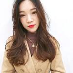 ロング 大人ヘアスタイル 韓国風ヘアー デジタルパーマ