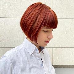 前下がりボブ ナチュラル 前下がり コンパクトショート ヘアスタイルや髪型の写真・画像