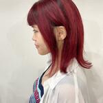 モード ミディアム 赤髪