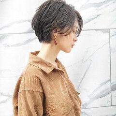 ショート 髪質改善 ガーリー ショートボブ ヘアスタイルや髪型の写真・画像