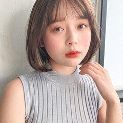 韓国風ヘアー フェミニン 簡単ヘアアレンジ ボブ ヘアスタイルや髪型の写真・画像