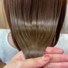 髪質改善トリートメント ツヤツヤ うる艶カラー 艶髪 ヘアスタイルや髪型の写真・画像