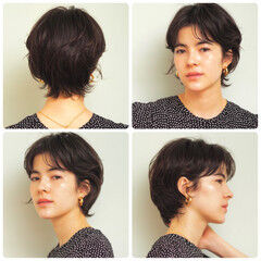 大人カジュアル 小顔ショート ショート 大人ショート ヘアスタイルや髪型の写真・画像