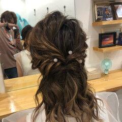 ヘアセット ヘアアレンジ ミディアム ナチュラル ヘアスタイルや髪型の写真・画像