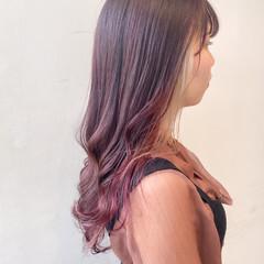 セミロング ナチュラル 春色 透明感カラー ヘアスタイルや髪型の写真・画像