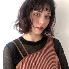 ボブ ゆるふわパーマ フェミニン ヘアスタイルや髪型の写真・画像