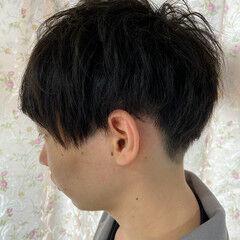 ショート マッシュウルフ メンズショート モード ヘアスタイルや髪型の写真・画像