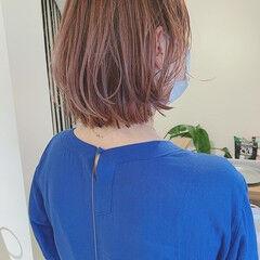 夏 アンニュイほつれヘア モード ボブ ヘアスタイルや髪型の写真・画像