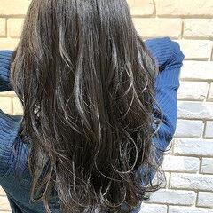 大人可愛い 30代 セミロング デジタルパーマ ヘアスタイルや髪型の写真・画像