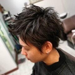 メンズカット メンズヘア メンズショート レザーカット ヘアスタイルや髪型の写真・画像