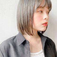 縮毛矯正 髪質改善 ナチュラル ボブ ヘアスタイルや髪型の写真・画像