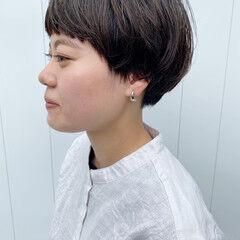 マッシュ ミニボブ ベリーショート マッシュショート ヘアスタイルや髪型の写真・画像