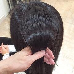 ロング 白髪染め コンサバ イルミナカラー ヘアスタイルや髪型の写真・画像