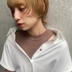 ブリーチカラー 大人かわいい ショート モード ヘアスタイルや髪型の写真・画像