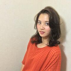 パーマ 艶髪 上品 エレガント ヘアスタイルや髪型の写真・画像