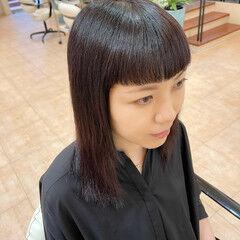 セミロング モード モード ヘアスタイルや髪型の写真・画像
