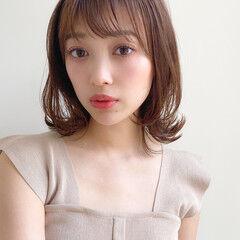 大人かわいい 髪質改善トリートメント イルミナカラー ミディアム ヘアスタイルや髪型の写真・画像
